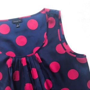 NWOT Talbots Polka Dot Sleeveless Shell